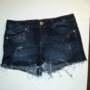 Jean shorts, size 7, distressed